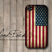 American Flag iPhone 4 Case, iPhone 4s Case, iPhone Case, iPhone hard Case