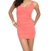Pleated Bodycon Dress | Shop Junior Clothing at Wet Seal