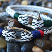Spring Trend 2013 Rope Bracelet SHACKLE Bracelet Sailing Surfer STREET Fashion FREE shipping