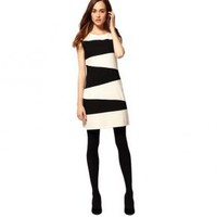 Bqueen 60s Stripe Dress BY015E - Designer Shoes|Bqueenshoes.com