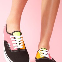 Tri-Tone Neon Sneaker