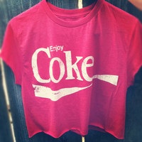 Vintage Coca Cola Ejnoy Coke crop shirt by NewSpiritVintage
