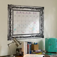 Vintage Frame Dry-Erase Calendar Decal