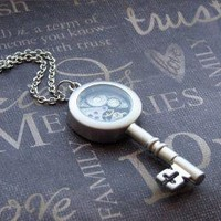 Silver Key Necklace Enchanted Steampunk by TheEnchantedLocket