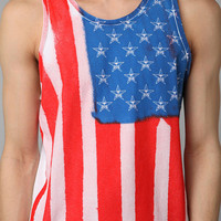 Urban Outfitters - OBEY Spray Paint Flag Tank Top