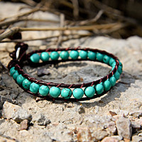 Birthstone Collection: December Turquoise Beaded Bracelets