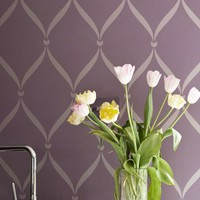 Wall Stencil Pattern Ribbon Lattice Allover Stencil Great Alternatiive to Decals and Wallpaper for Wall Decor