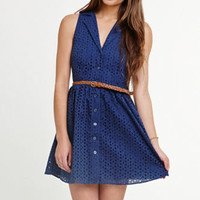 Black Poppy Collared Sleeveless Dress at PacSun.com