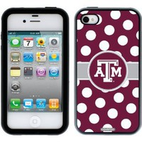 Amazon.com: Texas A&M University - Polka Dots design on a Black-Black iPhone 4 / 4S Guardian Case by Coveroo: Cell Phones & Accessories