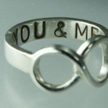Love Ring You ME Infinity Ring Sterling Silver Band by ExCognito