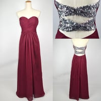 2013 Cheap New Style Strapless Sweetheart with Beading Chiffon Prom Dresses