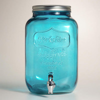 Blue Glass Yorkshire Dispenser | World Market