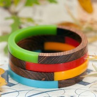 Shabby Apple - Calypso Wood Bangles
