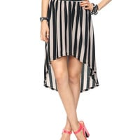 High-Low Striped Skirt | FOREVER21 - 2000035940