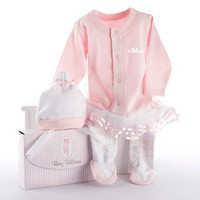 Baby Ballerina - Two-Piece Pink Layette Set - Whimsical &amp; Unique Gift Ideas for the Coolest Gift Givers