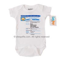 Facebook Boy Baby Bodysuit by Sara Kety - Size 0-6 Months - Whimsical &amp; Unique Gift Ideas for the Coolest Gift Givers