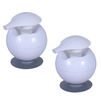 2-Piece Suction Grip Soap Dispenser