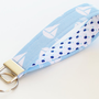 Key Chain Sailboat  Fabric Key Fob Key by BrooklynLoveDesigns
