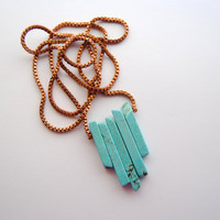 Turquoise Arrow Necklace - Handmade Jewelry - Free Shipping in the US - Mother's Day Jewelry