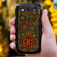 Samsung Galaxy S3 Case - Galaxy SIII Case - Personalized Samsung Case - Monogram Galaxy Case - S3MC001