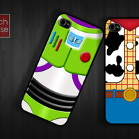 Bestfriend woody buzz lightyear Case iPhone 4 Case iPhone 4s Case iPhone 5 Case idea case twin friend team movie parody toy story like love
