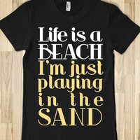 Life is a Beach (Junior) - xpress - Skreened T-shirts, Organic Shirts, Hoodies, Kids Tees, Baby One-Pieces and Tote Bags