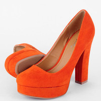 Trish Platform Pumps in Orange :: tobi