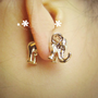 Neon Fashion 3D Elephant Single Ear Stud  | LilyFair Jewelry
