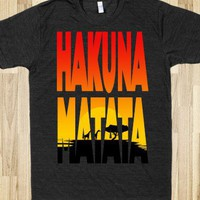 Hakuna Matata (Athletic) - Moviemoviesmovies - Skreened T-shirts, Organic Shirts, Hoodies, Kids Tees, Baby One-Pieces and Tote Bags