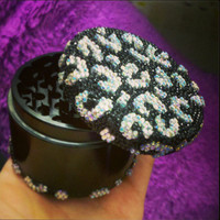 Black and Iridescent Cheetah Print Grinder
