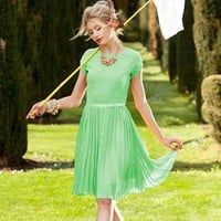 Vintage Green Chiffon Dress | Orchid