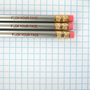 f&amp;ck your face pencil set of three in silver. MATURE. stuck with someone you hate, write about it with this pencil.