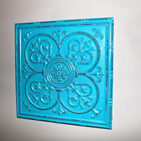 Turquoise Metal Wall Decor / Shabby Chic / by AquaXpressions