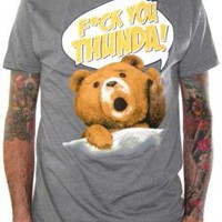 ROCKWORLDEAST - Ted, T-Shirt, F*ck You Thunda