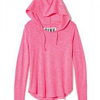Curved Hem Pullover - PINK - Victoria&#x27;s Secret
