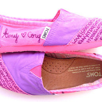 The Coury - Hot Pink and Purple Custom TOMS