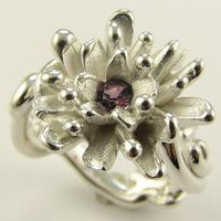 Blackberry Sapphire Aster by wexfordjewelers on Etsy