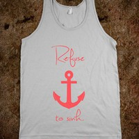 Refuse to Sink Anchor Infra Red - Awesome fun #$!!*& - Skreened T-shirts, Organic Shirts, Hoodies, Kids Tees, Baby One-Pieces and Tote Bags