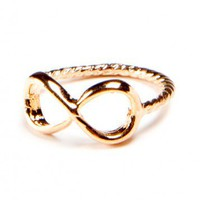 Brandy ♥ Melville |  Rose Gold Infinity Knuckle Ring - Rings - Jewelry - Accessories