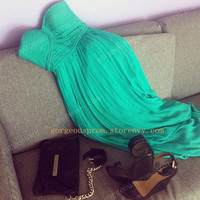 Chic Green chiffon dresses/Graduation Dresses
