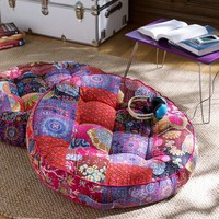 Kantha Cloth Floor Pillow, Warm