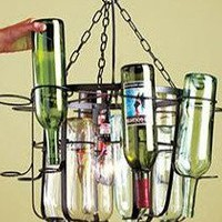 Wine Bottle Chandelier Room Decor