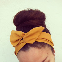 Mustard Dolly Bow Headband by Eindre on Etsy