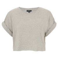 Roll Back Crop Tee - Urban Education - Collections - Topshop USA