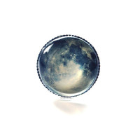 Full Moon Ring Wearable Art Twilight by NaturalPrettyThings