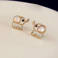 favthing  Cute Elephant Studs