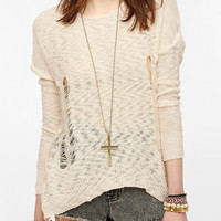 Urban Outfitters - Lucca Couture Shredded Pullover Sweater