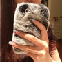 Handmade Furry Rhinestone iPhone 4 / 4S Case for Winter