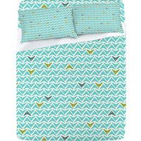 DENY Designs Home Accessories | Heather Dutton Take Flight Aqua Sheet Set