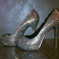 "AB ""Rainbow-like"" Crystal Sparkle Shoes High Heels"